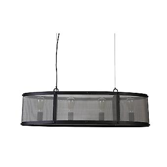 Light & Living Hanging Lamp 4L 100x31x25cm Lancelot Black Incl Lamp