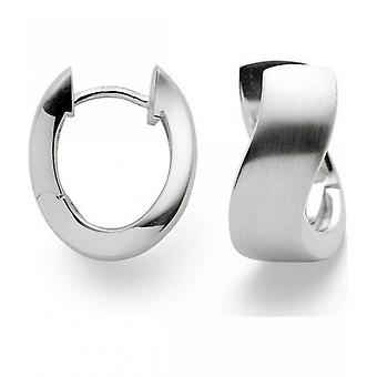 bastian inverun - 925/- silver earrings, polished - 24570