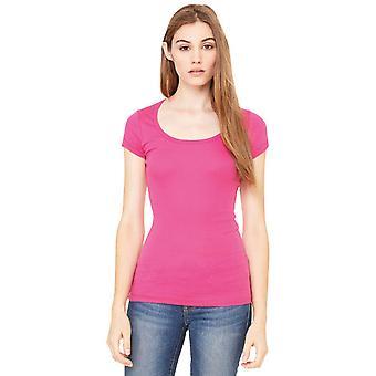 Cotton Addict Womens/Ladies Sheer Mini Rib Longline Vest T-Shirt