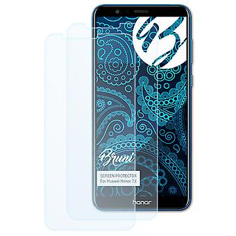 Bruni 2x Película Protectora compatible con Huawei Honor 7X Lámina Protectora