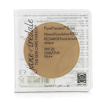 Pure geperste basis minerale foundation refill spf 20 licht beige 208707 9.9g/0.35oz