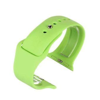 Apple iwatch horloge band groen siliconen rubber 38mm en 42mm