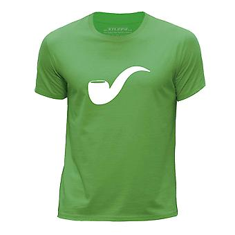 STUFF4 Boy's Round Neck T-Shirt/Hipster Fashion / Pipe/Green