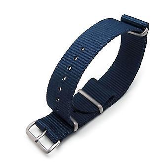 Strapcode n.a.t.o correa de reloj miltat 24mm g10 correa de reloj militar brazalete de nylon balístico, cepillado - marino