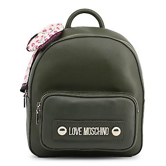 Love Moschino Original Women Fall/Winter Backpack/Rucksack - Green Color 37136
