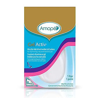 Amope gelactiv ultra slim ball of foot invisible gel cushions, 1 pair