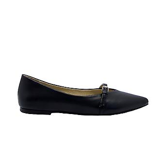 Strategia T36black Women's Black Leather Flats