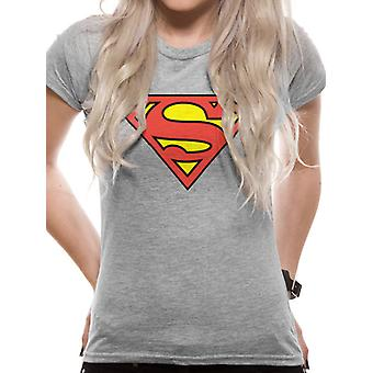 Superman-Logo Fitted T-Shirt, femmes
