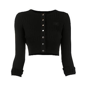 Elisabetta Franchi Mk04s01e2110 Frauen's schwarze Viskose Strickjacke