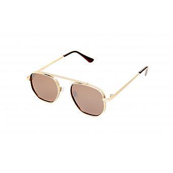 Sunglasses Men's Rectangular Gold/Brown (20-132)