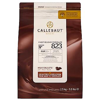 2.5kg Callebaut Milk Chocolate Choc Chip Drops Baking Cup Cakes Biscuits Muffins