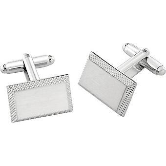 Duncan Walton Braxton Essential Brushed Cufflinks - Silver