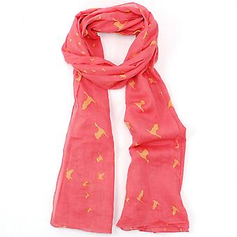 Pip & Hazel Organic Cotton Scarf Licenced from RSPB - Flying V Coral