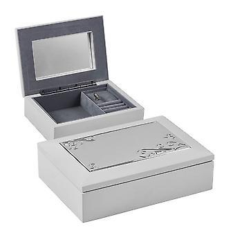 Orton West Musik Schmuck-Box - weiß/Silber