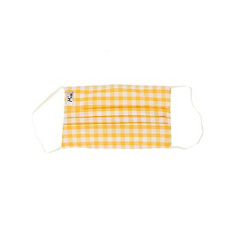 Mio HB2 Gingham Yellow Check Cotton Face Mask with Removable Nose Wire