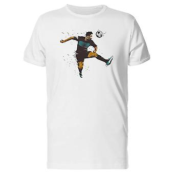 Soccer Player Using Head Tee Men's -Image by Shutterstock