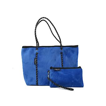 WILLOW BAY AU BOUTIQUE Neopreen Tote Bag - ELECTRIC BLUE VELVET