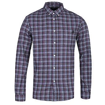 Edwin standaard Dark Slate gecontroleerd shirt met lange mouwen