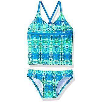 Kanu Surf Little Girlsă Candy Beach Sport 2-Piece Tankini Costum de baie, Kayla Blu...