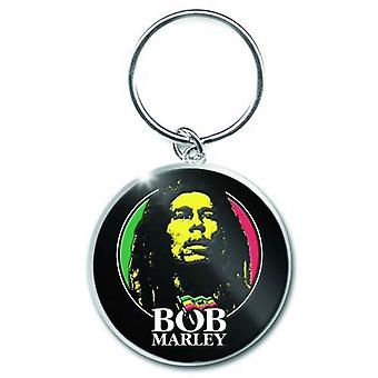 Bob Marley Keyring Keychain Logo Face new Official metal