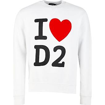 Dsquared2 I Love D2 Crew Neck Sweat