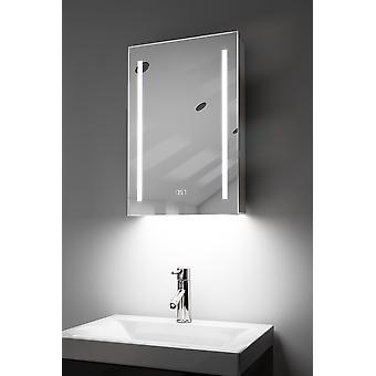Gabinete de baño LED de audio ambiental con sensor y afeitador k384Waud
