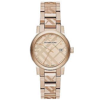 Burberry BU9146 Die Stadt Rose Gold Ton Damen Uhr