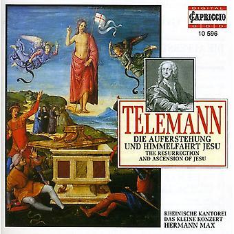 G.P. Telemann - Telemann: Die Auferstehung Und Himmelfahrt Jesu [CD] USA import