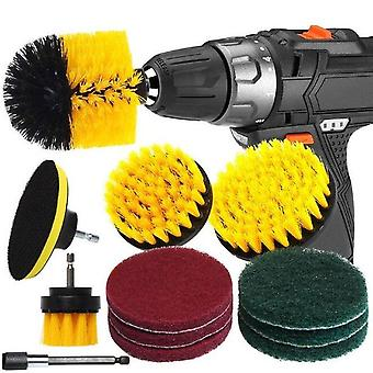 Electric Drill Cleaning Brush Set - Bathroom Surfaces Tub Shower Tile  Cleaning Kit