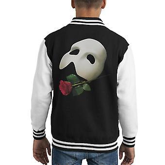 The Phantom Of The Opera Mask & Rose Kid's Varsity Jacket