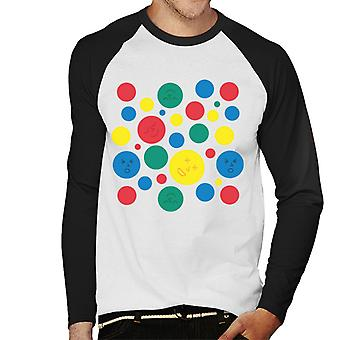 Twister Mat Circles and Faces Miehet&s Baseball Pitkähihainen T-paita