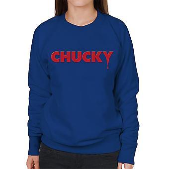 Chucky klassisk logo droppande blod kvinnor ' s Sweatshirt