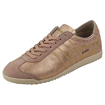 Gola Bullet Lustre Shimmer Womens Casual Trainers en blush pink