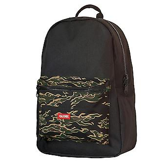 Globe Deluxe Backpack Unisex Backpack in Black Camouflage
