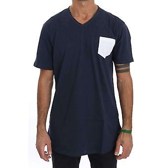 Daniele Alessandrini camiseta azul de algodón crewneck