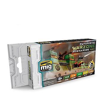 Ammo by Mig Futuristic Warzones Scenarios Colour Set