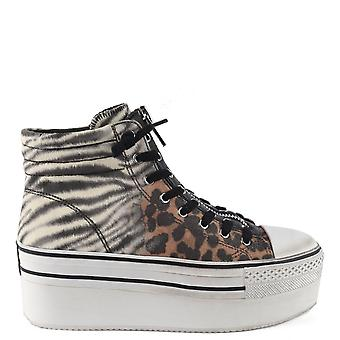 Ash JAGGER DEGRADE Platform Trainers Animal Print