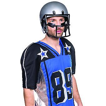 Footballhelm Erwachsene Helm Sport Schutzhelm Accessoire grau Gitter