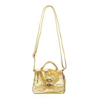 Zanellato 6316lac9 Women's Gold Leather Shoulder Bag