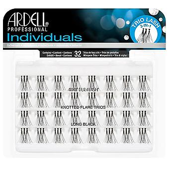 Ardell Duralash Înnodate Flare Trio Individual Lashes - Long Black Invizibil Band