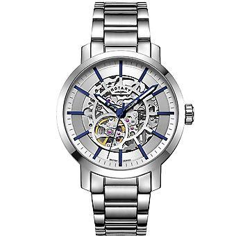 Rotary GB05350-06 Reloj de pulsera automático de acero inoxidable de Greenwich