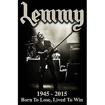 Lemmy Poster Born To Lose Live To Win new Official  textile flag 70cm x 106cm
