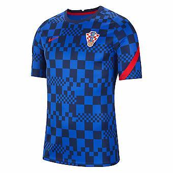2020-2021 Kroatia Nike Pre-Match Koulutus paita (Sininen)