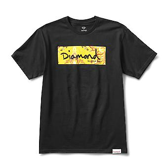 Diamond Supply Co Paisley Box Logo T-shirt Noir