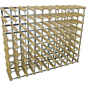 90 Bottle Wine Rack - Fully Assembled - Light Wood