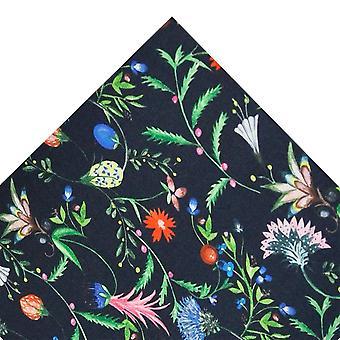 Kravaty Planet Van Buck Navy Ovocie & Kvety Pocket námestie vyrobené s Liberty Fabric