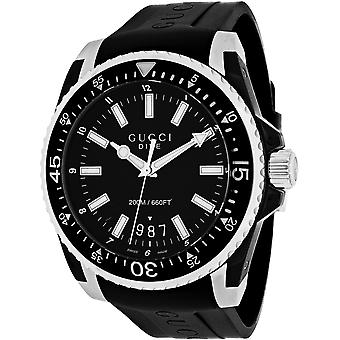 Gucci Men's Dive XL Black Dial Watch - YA136204A