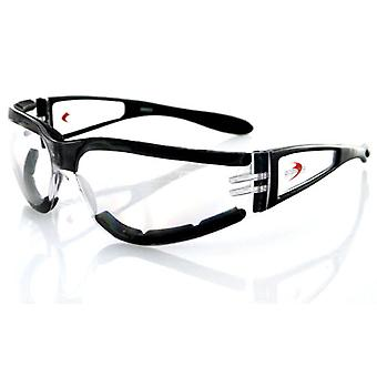 Balboa ESH203 Black Frame Shield II Sunglass - Clear Lens