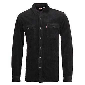 Levi's Jackson Worker Jet Black Corduroy Camicia