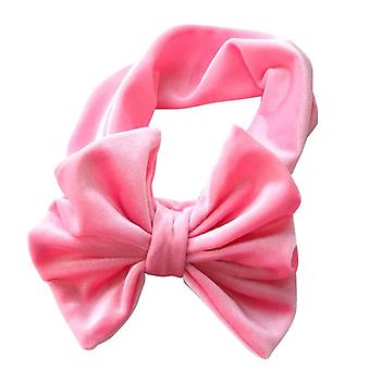 Nuovo Velvet Baby Headband Turban Big for Newborn Bow Hair Kid Wrap Accessori